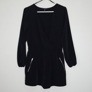 One Clothing Black Long Sleeve Romper